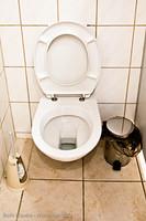 Toilette offen