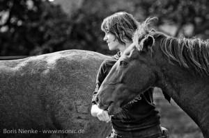 Mensch und Pferd
