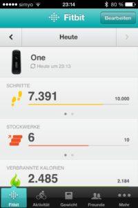 fitbit-app-startseite