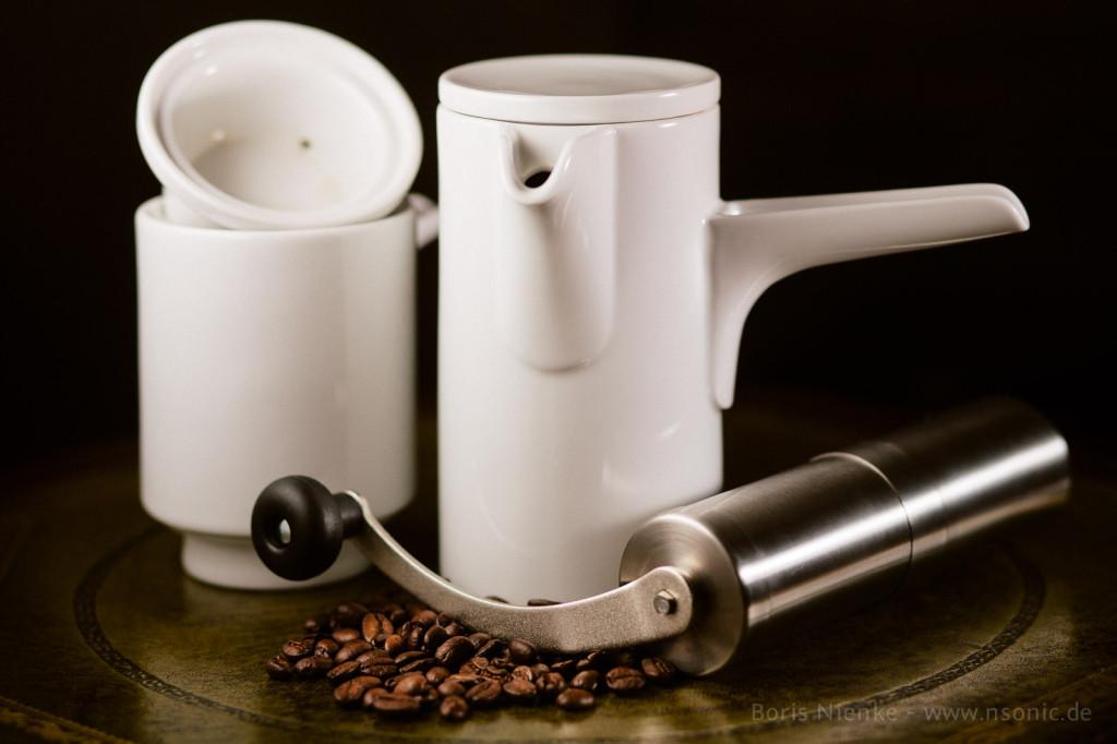 Bayreuther Kanne und Porex JP-30 Kaffeemühle