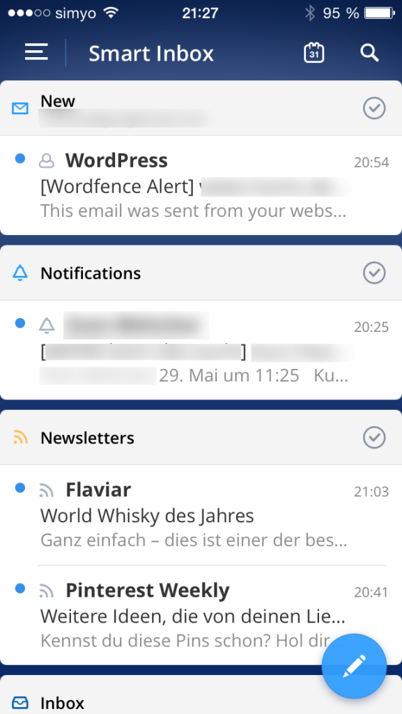 Spark Smart Inbox - E-Mail-Client für iOS von Readdle