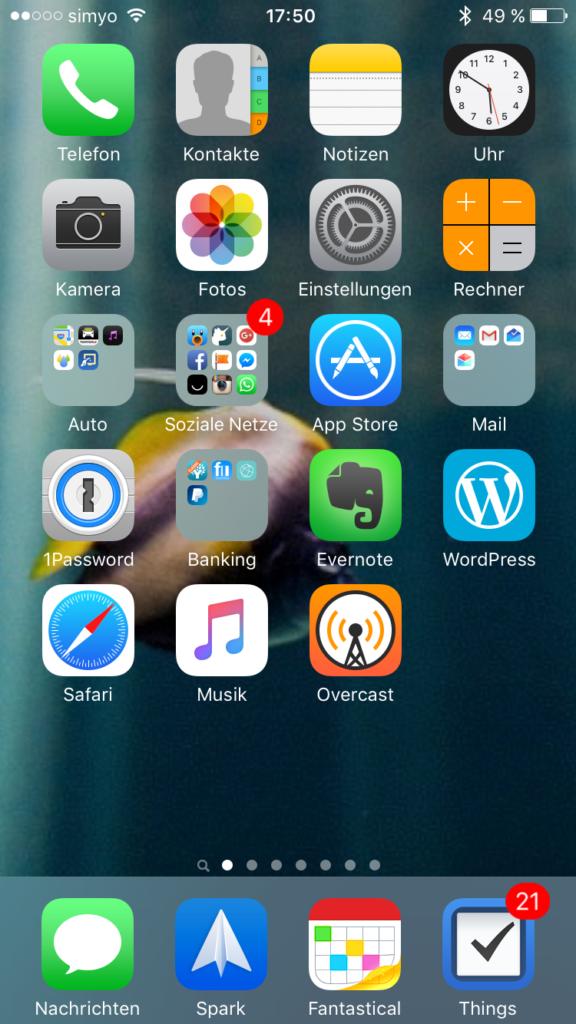 Nachher: Meine neue Startseite am iPhone