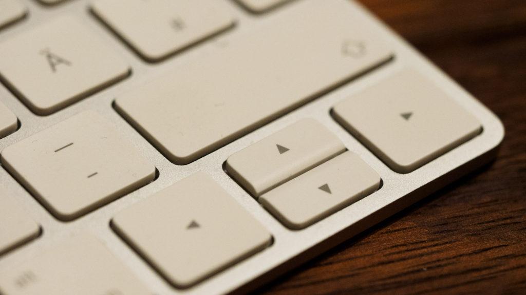 Apple Bluetooth-Tastatur mit unterschiedlich großen Cursor-Tasten
