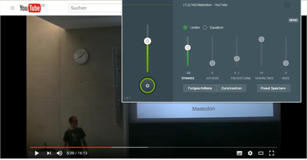 Audio-Kanal – Chrome-Plugin gegen zu leise Videos